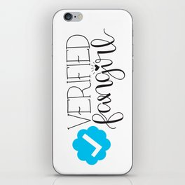 Verified Fangirl iPhone Skin