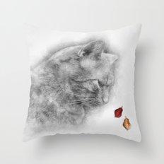 Autumn Cat Throw Pillow