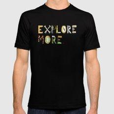 Explore More. MEDIUM Black Mens Fitted Tee