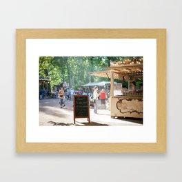 la crêperie Framed Art Print