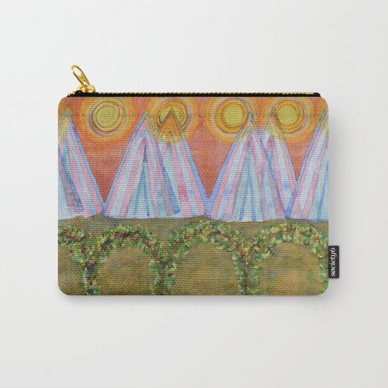 Tipis and decorated Wagon Carry-All Pouch