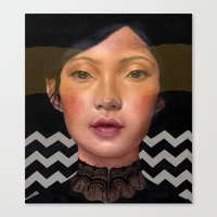 asian Canvas Prints featuring Asian beauty by Stephanie Struse