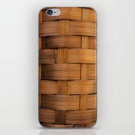 wooden basket iPhone Skin