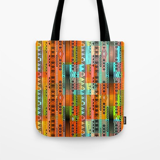 Abstraction. The rainbow pattern. 1 Tote Bag