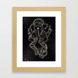 Ganesha In the Stars Framed Art Print