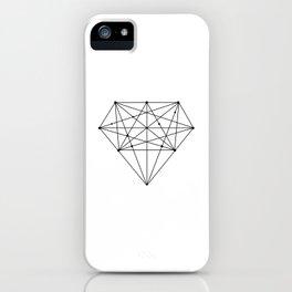 Geometric Diamond black-white poster design lowpoly fashion home decor canvas wall art iPhone Case