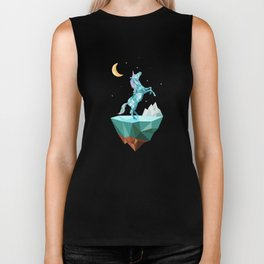 unicorn in the universe Biker Tank