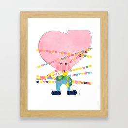 Filled with love Framed Art Print