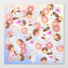 Coffee and Doughnuts En L'air Canvas Print
