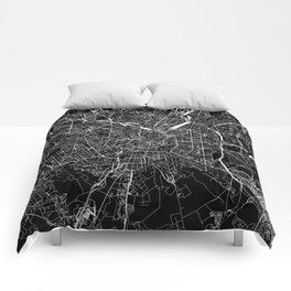 Milan Black Map Comforters