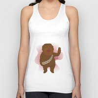 chewbacca Tank Tops featuring chewbacca by Lalu - Laura Vargas