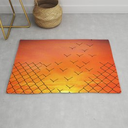 sunset escape Rug