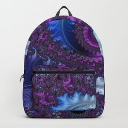 Feathery Flow - Fractal Art Backpack