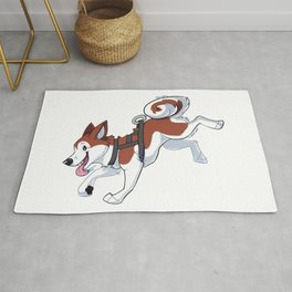 Brown Husky Running Rug