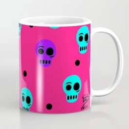 Tara White Studio Skull Logo Colorful Pattern Art Pop Print Coffee Mug