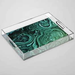 MALACHITE GREEN Acrylic Tray