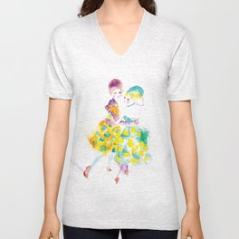 Rainbow Fashion Unisex V-Neck