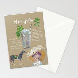 Mint Julep Recipe Stationery Cards