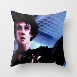 """Sigourney Weaver. In the movie """"Aliens"""" Throw Pillow"""