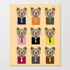 Little bear with tie Canvas Print