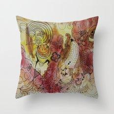skribb in madrid Throw Pillow