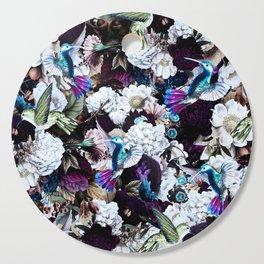 hummingbird paradise ethereal autumn flower pattern nfd Cutting Board