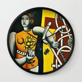 Julie by Fernand Léger Wall Clock
