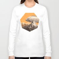 bass Long Sleeve T-shirts featuring Mountain Bass by Sam Rowe Illustration