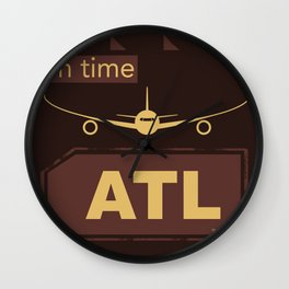 ATL Atlanta airport chocolate Wall Clock