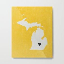 Michigan Love Metal Print
