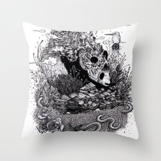 Land of the Sleeping Giant (ink drawing) Throw Pillow