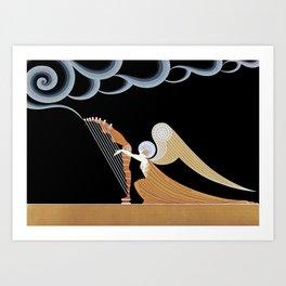 "Art Deco Design ""The Angel"" Art Print"