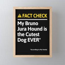 Bruno Jura Hound Dog Funny Fact Check Framed Mini Art Print