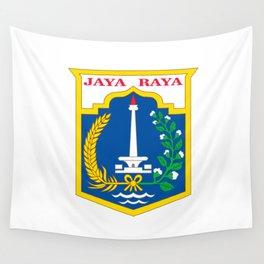 flag of jakarta or Djakarta Wall Tapestry