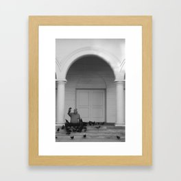 The Bird Man of Las Vegas Framed Art Print