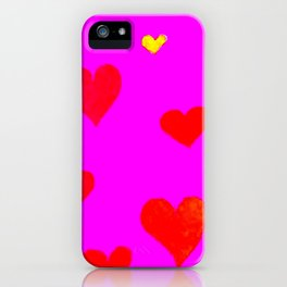Red and Pink Falling Hearts iPhone Case