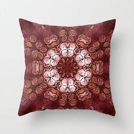 Mandala of Opposites: Warm - Cold, Soft - Hard, Light - Dark Throw Pillow