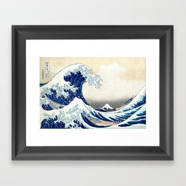 The Great Hokusai Wave Framed Art Print