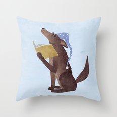 A Dog's Dream Throw Pillow