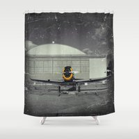 mustang Shower Curtains featuring Mustang by Jorgenson Art Syndicate