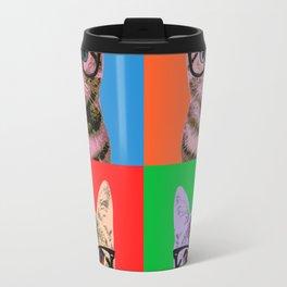 Cat in Four Colors Travel Mug