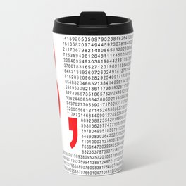 Pi – 3,14 – Red Travel Mug