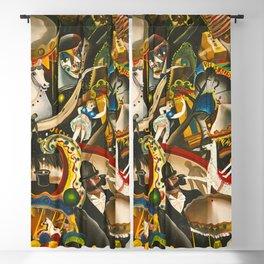 Classical Masterpiece 'The Fair in Utrecht by Pyke Koch Blackout Curtain