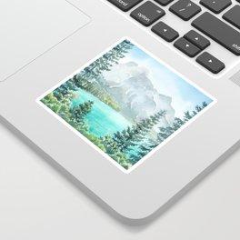 Emerald Lake Watercolor Sticker