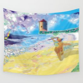 Côte Sauvage at the Atlantic in France. Wall Tapestry