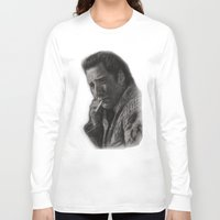 nicolas cage Long Sleeve T-shirts featuring WILD AT HEART - NICOLAS CAGE by William Wong
