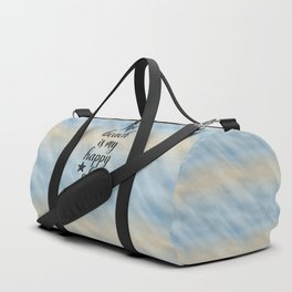 The Beach Is My Happy Place Duffle Bag