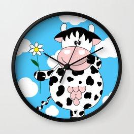Cow Daisy Wall Clock