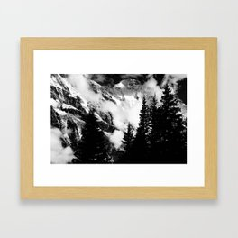 Alpine Classic (Black and White) Framed Art Print