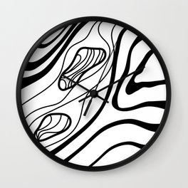 River Rocks Sketch Wall Clock